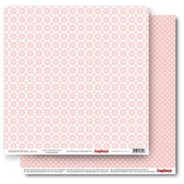 Бумага 30,5х30,5 «Ромашки розовый кварц»