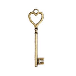 Металлическая подвеска «Ключик с сердцем»