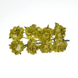 Кудрявые розы из бумаги ЗЕЛЕНЫЕ
