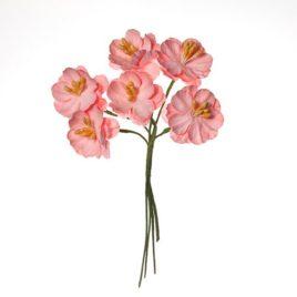 Цветы вишни кудрявые из бумаги РОЗОВЫЕ