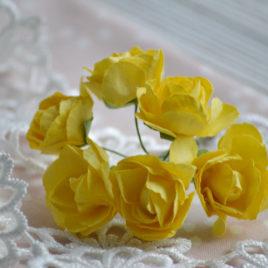 Цветы крупные розы, Желтые