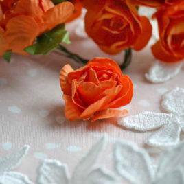 Цветы крупные розы, Оранжевые