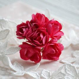 Цветы крупные розы, Малиновые
