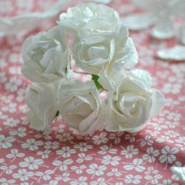 Цветы крупные розы, Белые