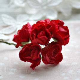 Цветы крупные розы, Красные