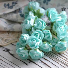 Цветы розы, нежно-бирюзовые