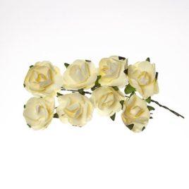 Розы из бумаги, Кремовые