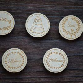 Набор деревянных фишек «Wedding»