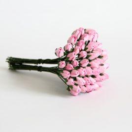 Бутоны средние закрытые Розовые