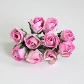 Maxi бутоны полураскрытые Розово-белые