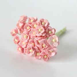 Цветы вишни мини Розово-персиковые