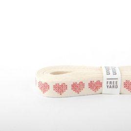 Хлопковая лента Dailylike «Heart cross stitch»