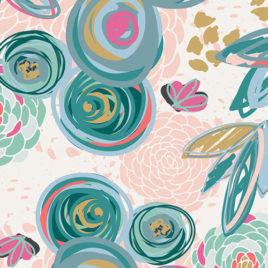 Ткань AGF «Sprayed Blooms Subtle»