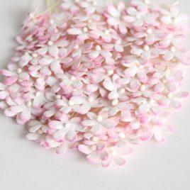 Цветочки маленькие 2 см  Розово-белые