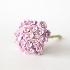 Цветы вишни мини Светло-сиреневые