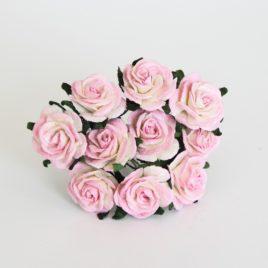 Midi розы 2 см Розово-белый