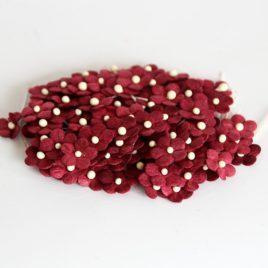 Цветочки маленькие Бордовые
