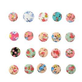 Декор для творчества «Пуговка с цветами»