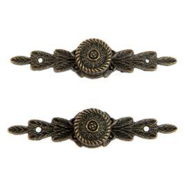 Ручка декоративная металл «Листва»