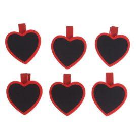 "Прищепки декор ""Сердце"" для надписей мелом"