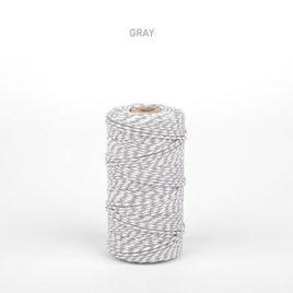 Шнур от Dailylike двухцветный белый/серый