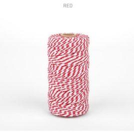 Шнур от Dailylike двухцветный белый/красный