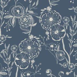 Ткань AGF «Line Drawings Bluing»