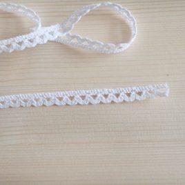 Кружево вязанное Белое