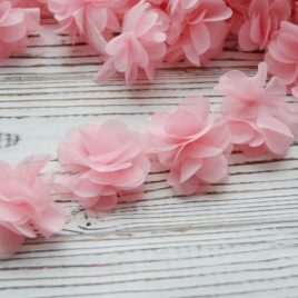 Шифоновые цветочки Розово-персиковые