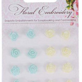 Набор объемных цветочков «Цветочная вышивка «