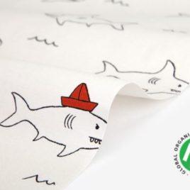 Органический хлопок Dailylike «Акулы»