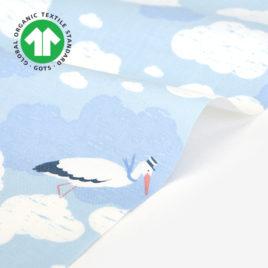Органический хлопок Dailylike «Organic cotton:stork»