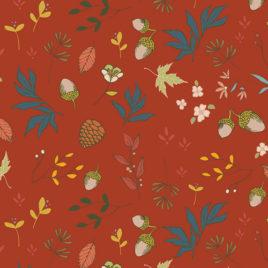 Ткань AGF «Acorns & Pinecones Pecan»
