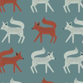 Ткань AGF «Sneaky Little Foxes»