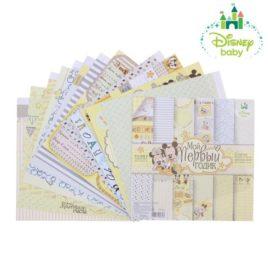 Набор бумаги для скрапбукинга «Мои первый годик : Микки Маус»
