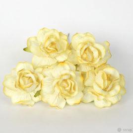 Кудрявые розы Светло-желтые