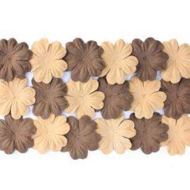 Набор цветков из шелковичной бумаги Коричневый, песочный