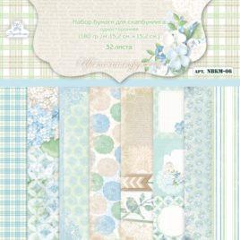 Набор бумаги для скрапбукинга «Цветочное кружево»
