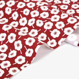 Оксфорд Dailylike «Цветы на красном»