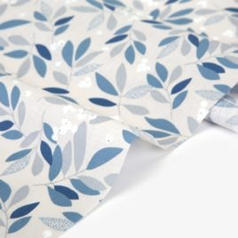 Ткань Dailylike «Голубые листья»