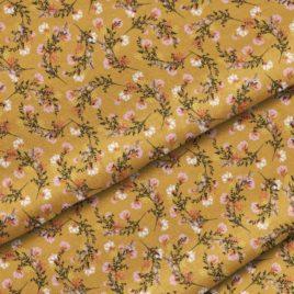 Ткань «Цветы на горчичном»