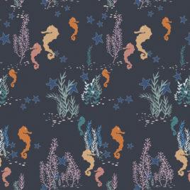 Ткань AGF «Seahorse Magic Deep»