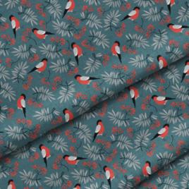 Ткань «Снегири»