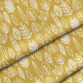Ткань «Листья на горчичном»