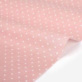 Ткань Dailylike «Белый горох на розовом»